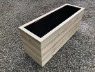 Cuboid Decking Planter 2000mm x 400mm 4 Tier