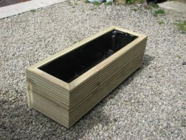 Cuboid Decking Planter 800mm x 300mm 2 Tier