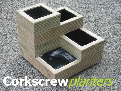 Corkscrew Planters