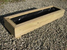 Cuboid Decking Planter 800mm x 300mm 1 Tier