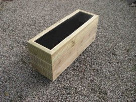 Cuboid Decking Planter 2000mm x 300mm 3 Tier