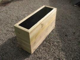 Cuboid Decking Planter 1300mm x 300mm 4 Tier