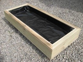Cuboid Decking Planter 1700mm x 500mm 1 Tier