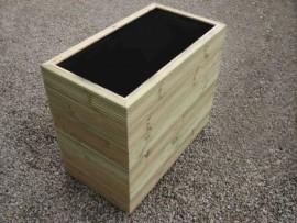 Cuboid Decking Planter 800mm x 500mm 6 Tier