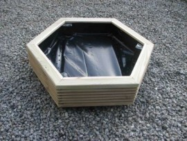 Hex Decking Planter 1000mm x 1000mm 1 Tier