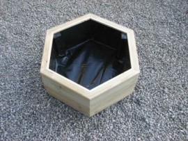Hex Decking Planter 900mm x 900mm 2 Tier