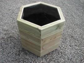 Hex Decking Planter 600mm x 600mm 4 Tier