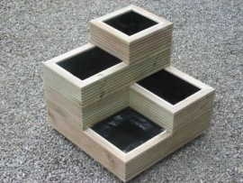 Stacked Decking Planter Large Tower