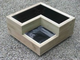 Stacked Decking Planter Small Corner Tower