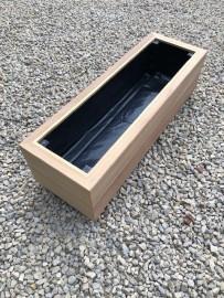 Premium Iroko Hardwood Planters 900mm x 300mm 2 Tier